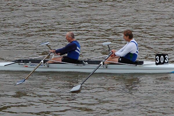 Geoff Potts and Tom Bishop - Vet F 2x winners - close-up