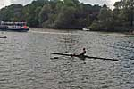 Jon Brown winning Elite sculls