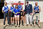 Masters F coxed four winners