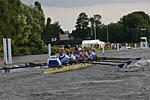 Masters G 8+ approaching the finish